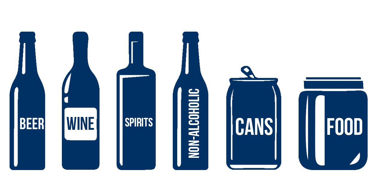 Markets We Cover Bottles Graphic